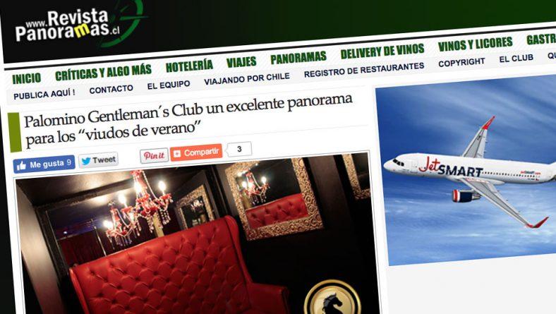Reportaje Revista Panoramas a Club Palomino